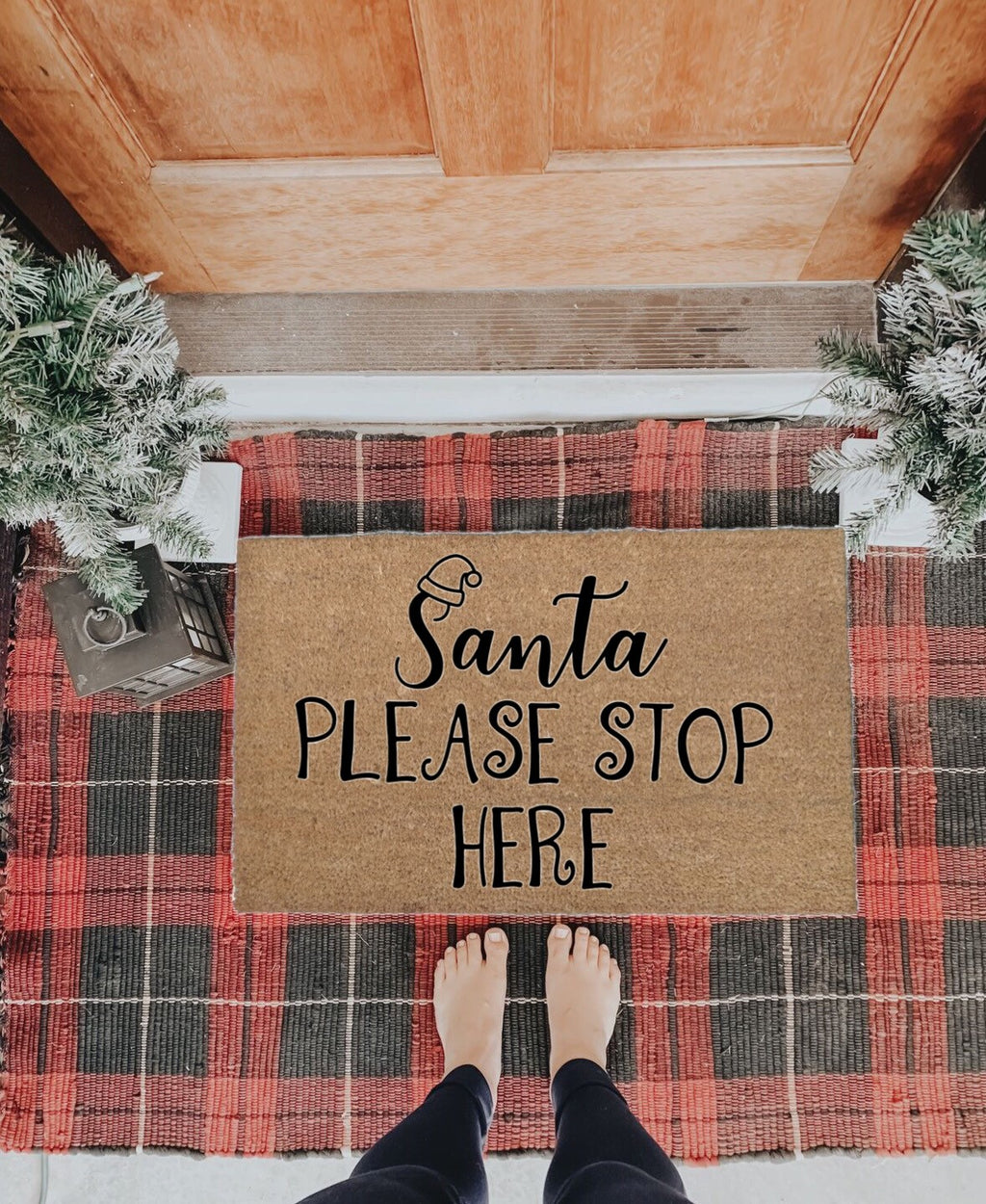 Santa Please Stop Here Doormat