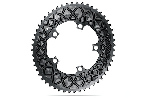 Oval 110BCD 5 holes, 2x chainring FOR SRAM cranks - BLACK | 50T