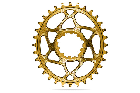 Oval Sram Direct Mount GXP chainring N/W - GOLD (6mm offset) | 30T