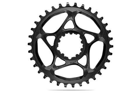 Round Sram Direct Mount GXP chainring N/W - BLACK | 30T