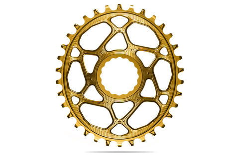 Oval RaceFace Cinch Direct Mount chainring N/W -GOLD (6mm offset) | 34T