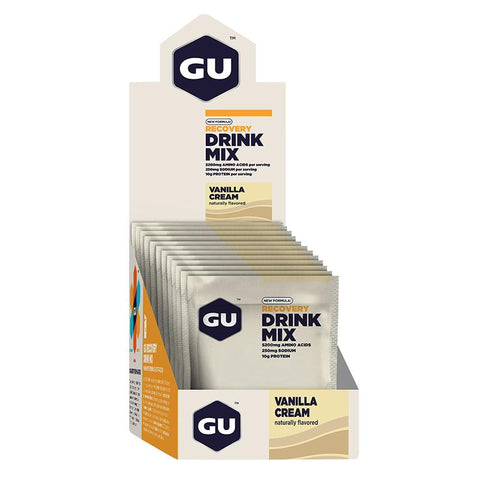 GU Box Recovery Drink Mix, Vanilla Cream