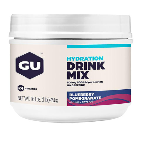 GU Hydration Drink Mix | Canister, Blueberry Pomegranate