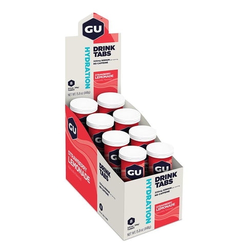 GU Box Hydration Drink Tabs, Strawberry Lemonade