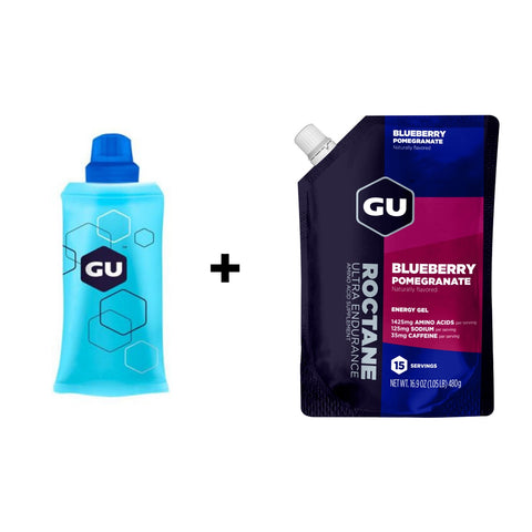 GU Flask + Bulk Roctane Blueberry Pomegranate