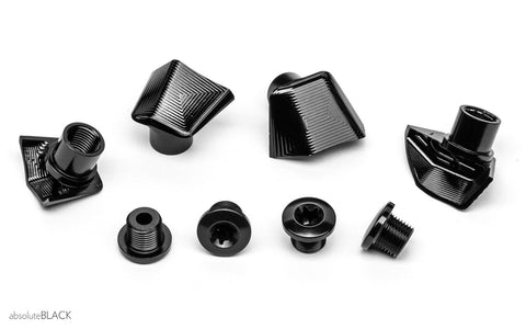 ROAD BOLT COVERS | Dura Ace 9100 covers + bolts BLACK
