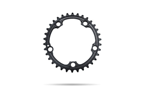 Oval 110BCD 5 holes, 2x chainring FOR SRAM cranks - BLACK | 36T