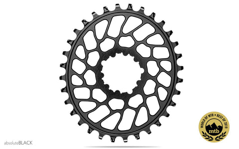 Oval Sram Direct Mount BB30 - flat chainring N/W - BLACK (0mm offset) | 34T