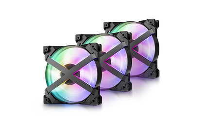 DEEPCOOL MF120 GT (TRIPLE PACK) 120MM  3 IN 1 ARGB  WITH RGB FAN CONTROLLER