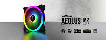 GAMDIAS AEOLUS M2-1201 ARGB CASE FAN