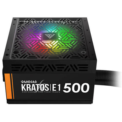 Gamdias KRATOS E1-500W RGB 500W Power Supply