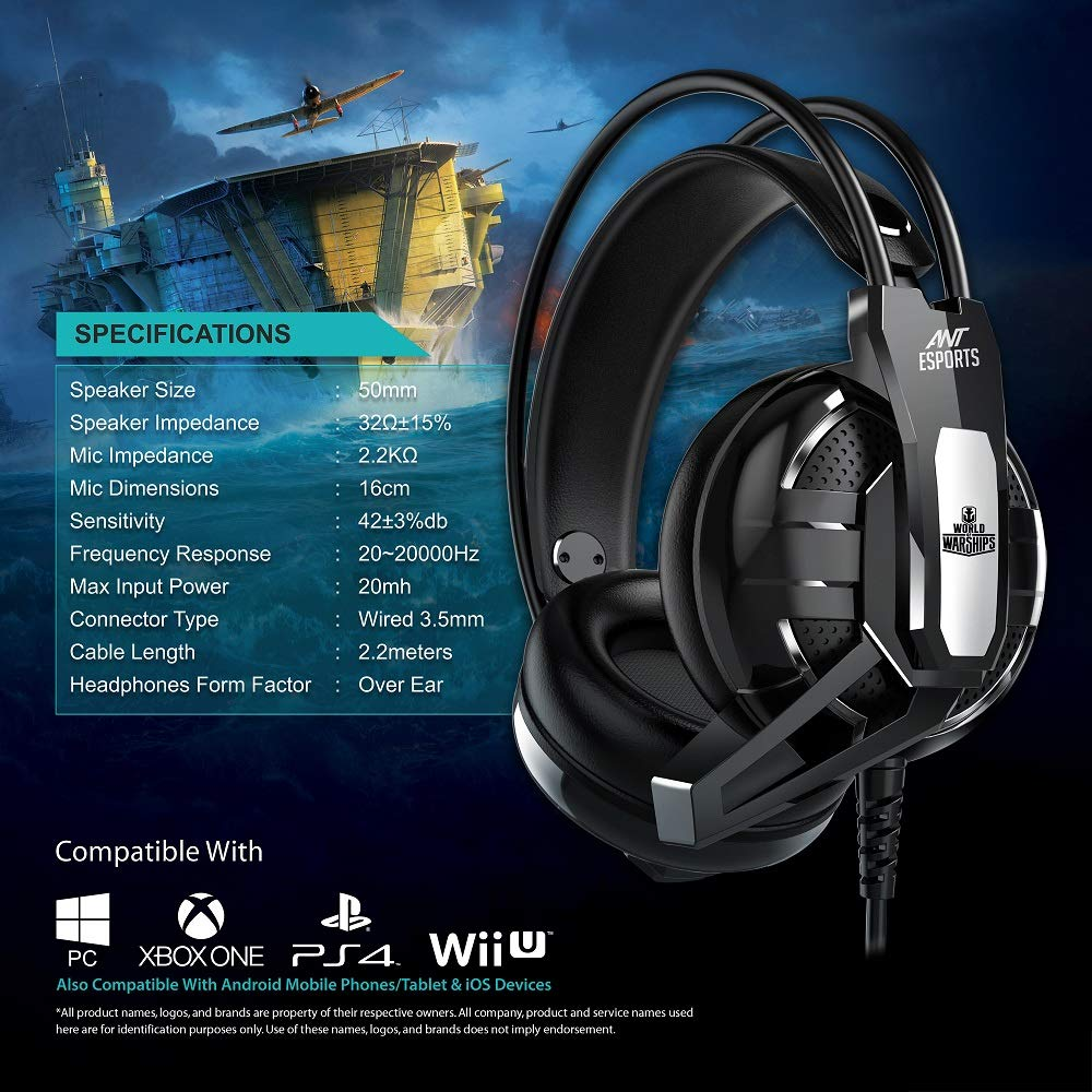 ANT ESPORTS H520W BLACK Gaming Headset