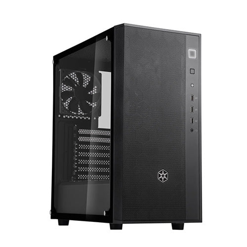 SilverStone FARA R1 ATX Black Mid Tower Chassis WITH Tempered Glass SST-FAR1B-G