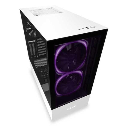 Nzxt H510 Elite (Matte White) Gaming Cabinet - Hotshiftpc