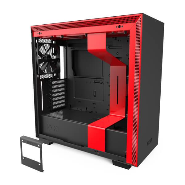 Nzxt H710 (Black-Red) Gaming Cabinet