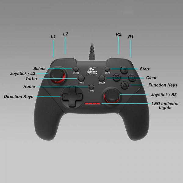 Ant Esports GP100 Gaming Gamepad (Wired)