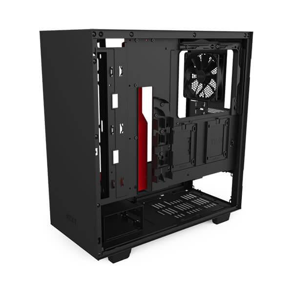 Nzxt H510 (Matte Black-Red) Gaming Cabinet