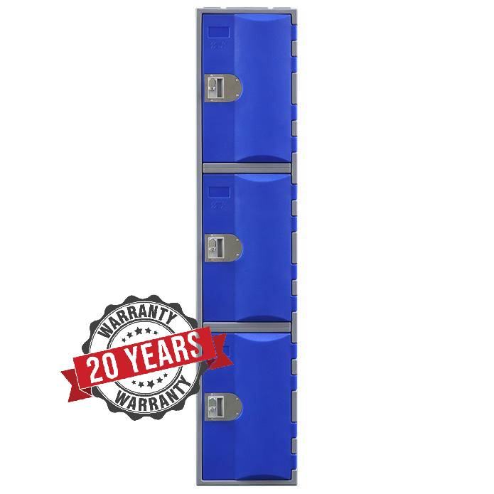 Three Door Heavy Duty Plastic Locker