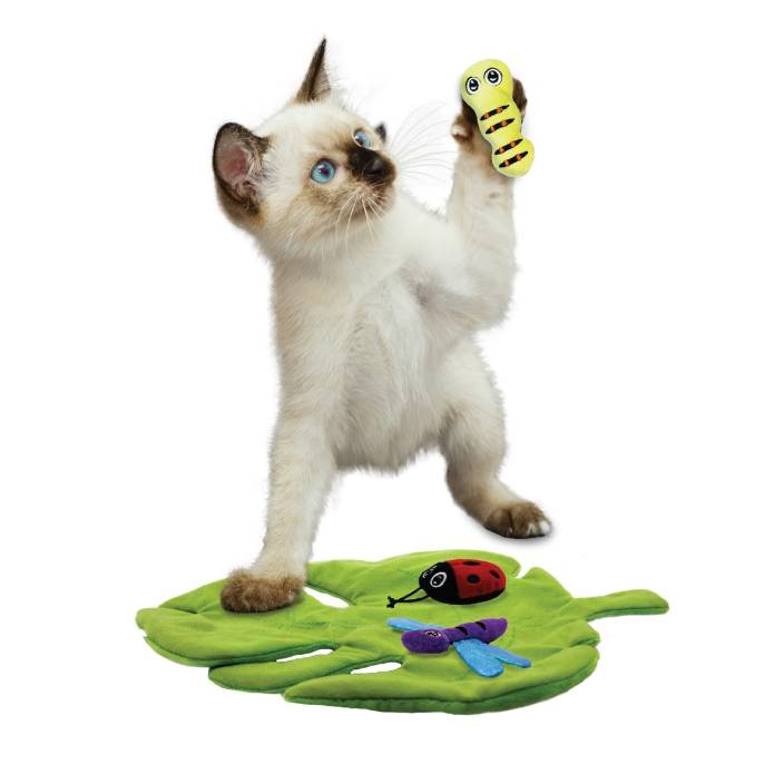 KONG Pull-A-Partz Bugs Interactive Plush Catnip Cat Toy