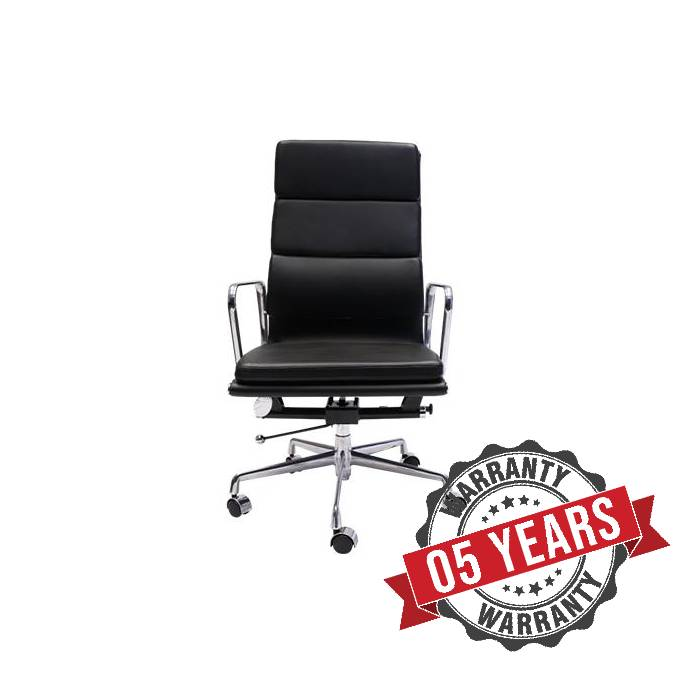 High Back Executive Office Chair injected Foam And PU Leather Black Finish