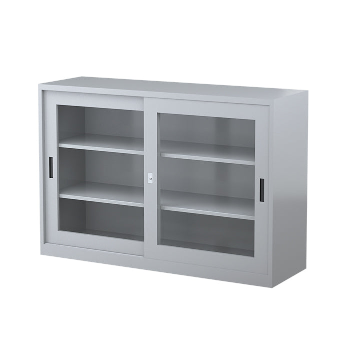 Two Shelves Sliding Door Cabinet