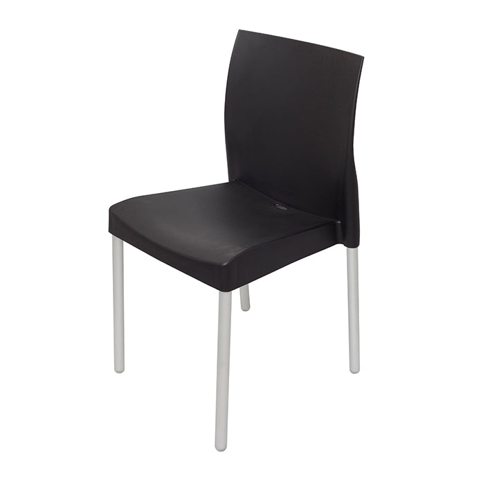 Plastic Shell and Aluminum Chair