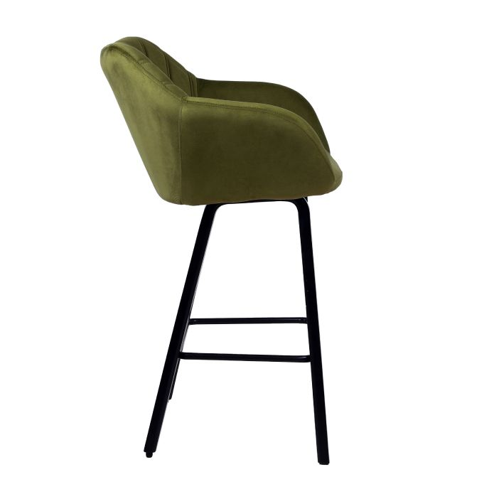 Cloak Velvet Kitchen Height Stool