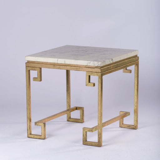 Marble Side Table Gold