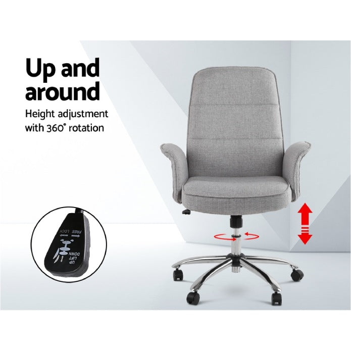 Fabric Office Desk Chair - Grey