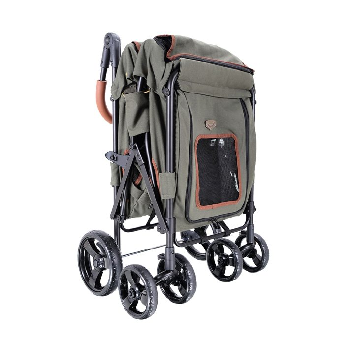 Ibiyaya Gentle Giant Dual Entry Easy-Folding Pet Wagon for Dogs up to 25kg