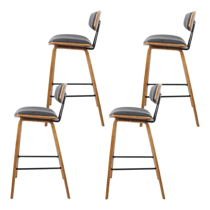 Artiss Set of 4 Wooden Bar Stools Kitchen Bar Stool Dining Chair Cafe Wood Black