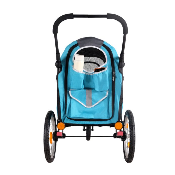 Ibiyaya Happy Pet Trailer / Jogger with Bicycle Attachment 2.0 - Blue