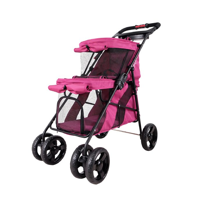Stroller for two pet