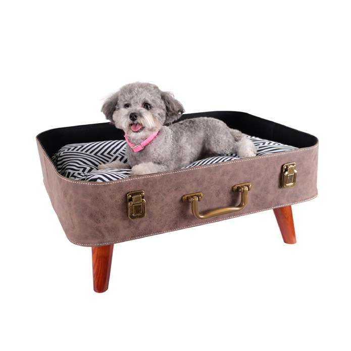 Vintage Retro Suitcase Pet Bed - Brown by Ibiyaya
