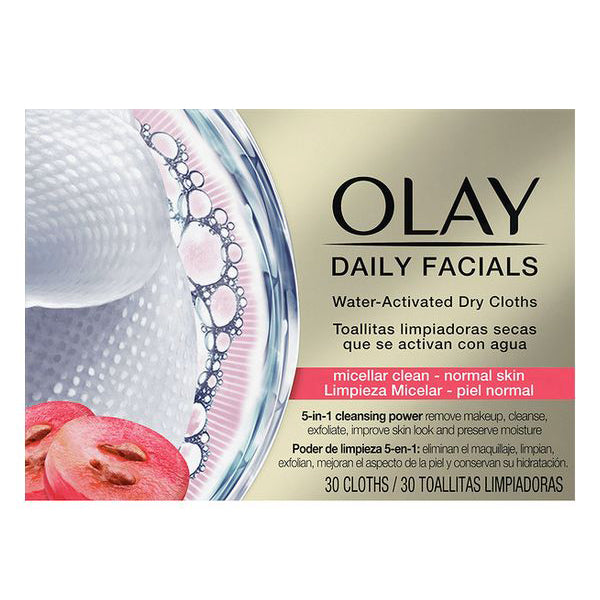 Makeup renseservietter Cleanse Daily Facials Micellar Olay (30 pcs) Normal hud