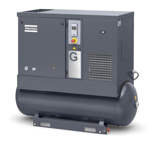 Atlas Copco G15-125 FF 20-HP 120-Gallon Rotary Screw Air Compressor w/ Dryer (208-230/460/3/60)