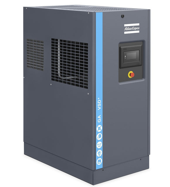Atlas Copco GA7VSD+ 175 FF w/ Mk5 Touch Control 10-HP Rotary Screw Air Compressor w/ Dryer (200/3/60)