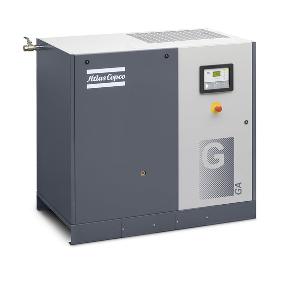 Atlas Copco GA22-150 AFF API 30-HP Rotary Screw Air Compressor w/ Dryer (208-230/460/3/60)