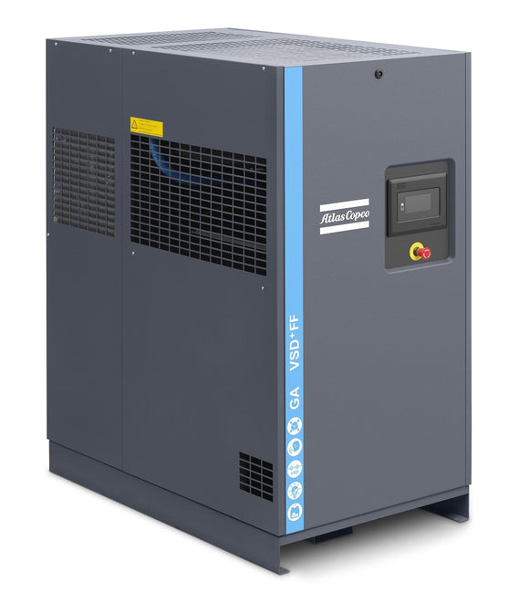 Atlas Copco GA37VSD+ 175 FF w/ Mk5 Touch Control 50-HP Rotary Screw Air Compressor w/ Dryer (230/3/60)