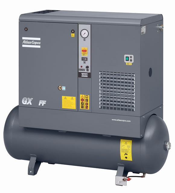 Atlas Copco GX5-150T AFF 7.5-HP 53-Gallon Rotary Screw Air Compressor w/ Dryer (208-230/460/3/60)