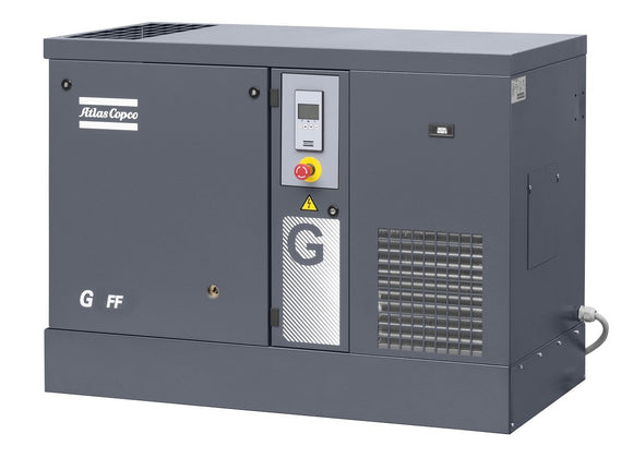 Atlas Copco G18-125 FF 25-HP Rotary Screw Air Compressor w/ Dryer (208-230/460/3/60)