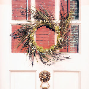 Dried Palm Wreath
