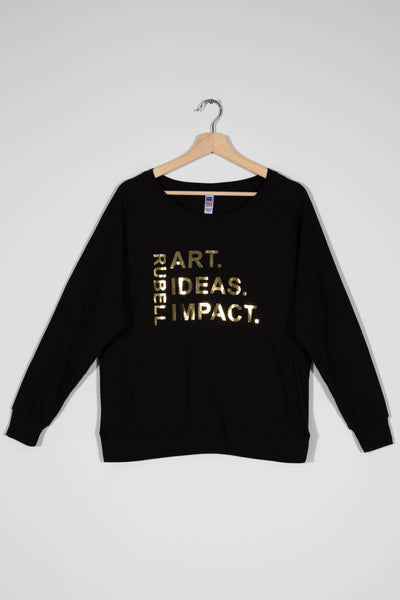 RM Black Gold Rubell Art Ideas Impact Long Sleeve Shirt