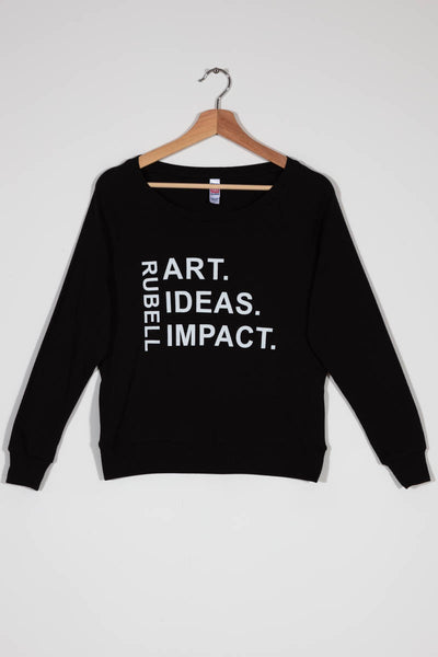 RM Black White Rubell Art Ideas Impact Long Sleeve Shirt