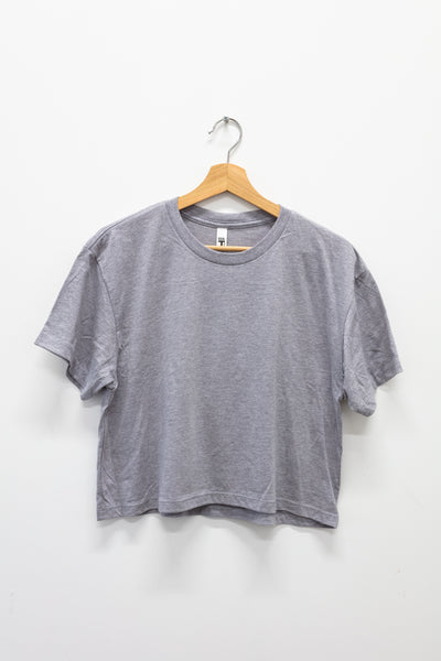 RM Cropped T-Shirt grey and red