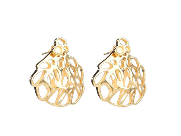 Flowen Aoda Earring and Pin in Gold (pair)