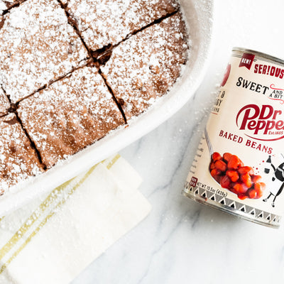 Dr Pepper Bean Brownie (Flourless, Vegan)