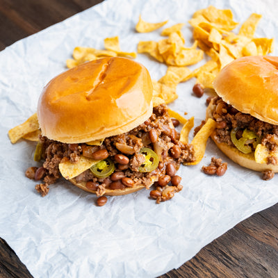 Dr Pepper Bean & Beef Sloppy Joe
