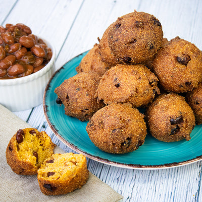 Jalapeño & Bacon Bean Hushpuppies or Fritters