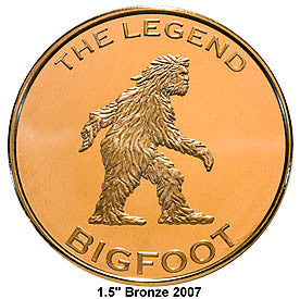 Bigfoot Gold  Colored Medallion